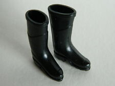 (M6.9) 1/12th scale DOLLS HOUSE PAIR OF BLACK RUBBER WELLIES