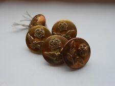 five   2.2cm   royal air force  2ww  RAF  brass uniform buttons by ed stillwell