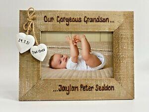 Grandson Granddaughter   Grandparents Gift Nan Grandad Personalised Photo Frame