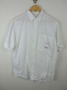 California Carrera Mens Shirt Size M Short Sleeve Button Up Regular White Italy