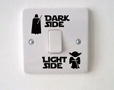 2x Star Wars Dark Light Side Switch Vinyl Decal Sticker Child Room Lightswitch