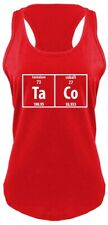Taco Periodic Table Funny Ladies Tank Top Science Nerd Food Tacos Chemistry Z6