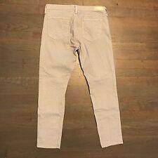 Adriano Goldschmied AG Gray White Polka Dot Slim Skinny Stevie Ankle Jeans 30R