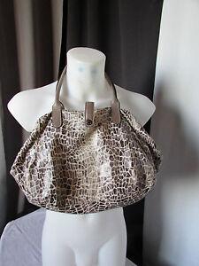 sac texier toile imprimé leopard