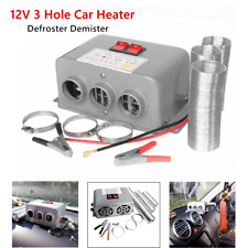 1*DC 12V Car 3 Hole Heating Cooling Compact Heater Windshield Defroster Demister