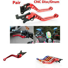 6 Red Grade Adjustable Red&Left CNC Adjustable Brake Lever for GY6 Scooter/Moped