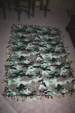 """Camouflage Themed Military Double-Thick Fleece Blanket/Bedspread/Throw-67""""x56"""""""