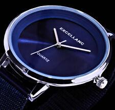 Excellanc Damen Mesh Armband Frauen Uhr Blau Silber Farben