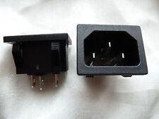 2 IEC Red Eléctrica Conector enganche rápido Chasis Admisión (181)