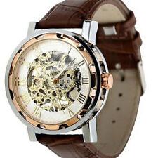 Reloj de Pulsera lujo Para hombres de Mano Mecánico Steampunk Esqueleto a Cuarzo Wind Up