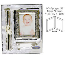 Baby Christening Gifts - Photo Album & Certificate Holder & Stand Baby Gift Set
