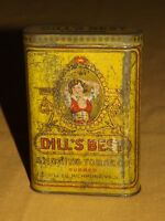 VINTAGE  PIPE DILL'S BEST RUBBED  RICHMOND VA SMOKING TOBACCO  TIN CAN