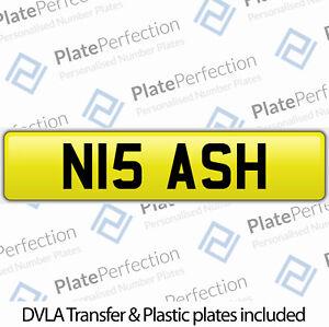 N15 ASH ASHLEY ASHLEIGH ASHER ASHWIN CHERISHED PRIVATE NUMBER PLATE DVLA REG