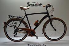 bici da passeggio bicicletta city-bike trk 28 alluminio uomo 21v nero marrone to