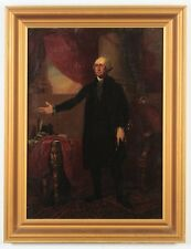 Antique President George Washington American Portrait Oil Painting c. 1880