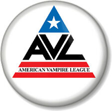 "American Vampire League True Blood 1"" Pin Button Badge TV Series Show AVL Logo"