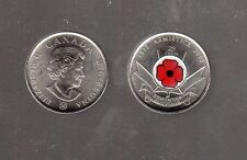 CANADA 1918-2008 ARMISTICE, REMEMBER (POPPY) DESIGN QUARTER