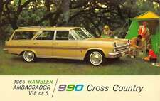 1965 Rambler Ambassador  990 Cross Country Car Vintage Postcard K70894