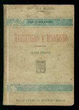 BELFIORE GIULIO MAGNETISMO E IPNOTISMO MANUALI HOEPLI 1914 MEDICINA PSICOLOGIA