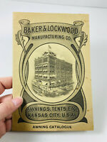 1911 Baker & Lockwood Awnings Tents Catalogue RARE kansas city KS complete
