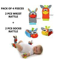 Baby Rattles Set Sensory Toys Foot-finder Socks Wrist Bracelet Gifts Sock Winter