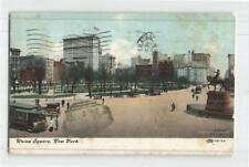 US 1909 UNION SQUARE NEW YORK PPC W/ 2c TO AUSTRIA