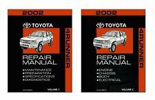 Bishko OEM Repair Maintenance Shop Manual Bound for Toyota 4-Runner 2002
