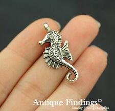 12pcs Hippocampus seahorse Antique Tibetan Silver Charm Pendant SC196
