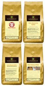Kaffee Probierpaket ♥ Probierset 4x250g milder säurearmer Kaffee röstfrisch