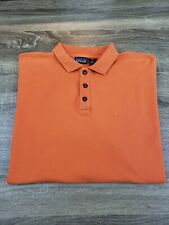 Patagonia Short Sleeve Polo Shirt Mens Size L Orange 100% Organic Cotton