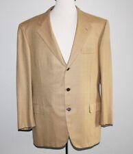 Recent Silk Cashmere BRIONI Blazer 44R 44 Regular Beige WINDOWPANE Surgeon Cuffs