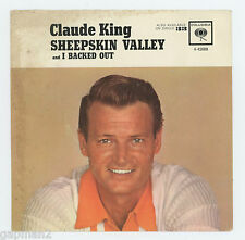 Claude King 1963 Columbia 45rpm Picture Sleeve (only) Sheepskin Valley