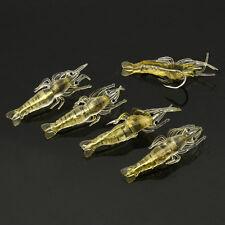 4cm Fake Simulation Soft Silicone Shrimp Prawn Hook Tackle Bait Fishing Lures 5X