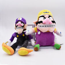 Wario and Waluigi Set of 2pcs Plush Soft Stuffed Teddy Toys Super Mario Bros