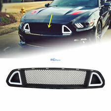 DRL LED Front Upper Mesh Grille Grill With Light For Ford Mustang 2015-17 16
