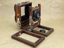 Gundlach Korona 4x5 wooden view Camera w/ Tessar 7-1/2 Inch f/4.5 - Needs Bellow