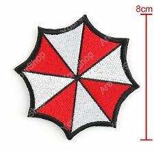 Resident Evil Insignia Bordada Badge Red Umbrella Corporation Hook Loop Patch