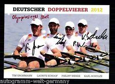 Grohmann, Schoof, svolta, Schulze Top AK originale firmato canottaggio + a 55975