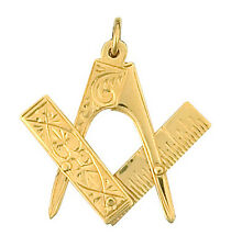 Masonic pendant Yellow Gold Masonic Handmade in Jewellery Quarter B'ham