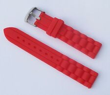 New 18mm Silicone Rubber Watch Band Strap - Red