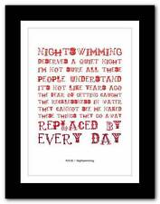 More details for r.e.m.- nightswimming ❤ song lyrics typography poster art print - a1 a2 a3 or a4