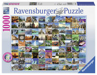 RAVENSBURGER 99 BEAUTIFUL PLACES ON EARTH 1000 PIECE JIGSAW PUZZLE - NEW GIFT