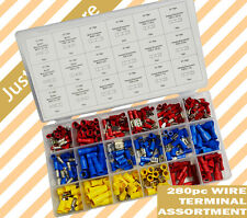 280 pcs Female Male Wire Terminal Assortment Insulated Electrical Set Connector.