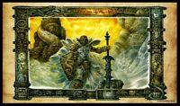 Dakkon Blackblade / The Destroyer Playmat Richard Kane Ferguson MTG Exclusive*