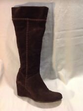 Wallis Brown Knee High Suede Boots Size 38