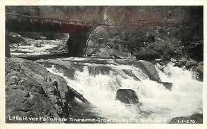 Cline RPPC I-I-276 Little River Falls by Townsend TN Great Smoky Mts Nat'l Park