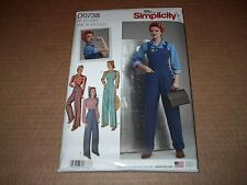 Simplicity Pattern 8447 ~ 1940s Rosie the Riveter Overalls & Blouse Sz 6 ~ 14 UC