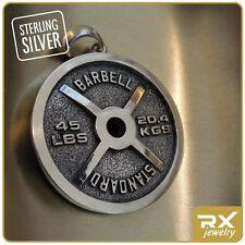 Fitness Jewelry Bodybuilding Weight Plate Pendant Barbell Standard Sport Jewelry