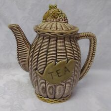 Tilso Japan Basket Weave Teapot Ceramic Porcelain Numbered