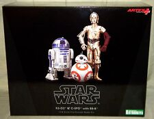 R2-D2, C-3PO, & BB-8 ARTFX STATUE 3-PACK Star Wars Force Awakens Kotobukiya